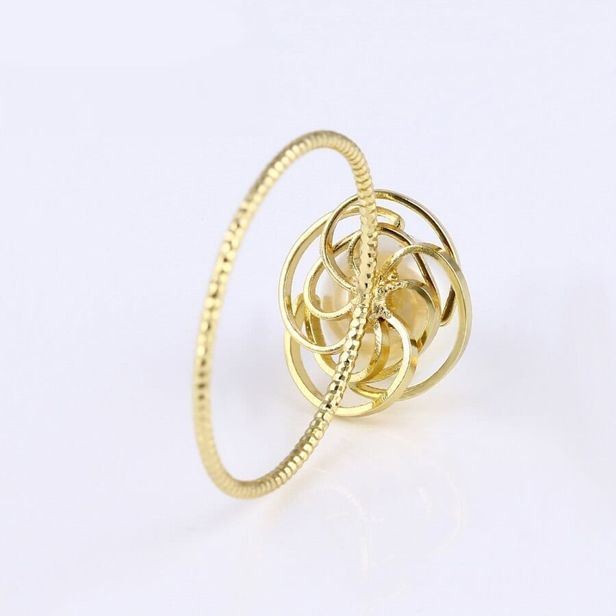 Rings For Women And Girls Imitation Pearl Trendy Simple Jewelry - Luxynor.com