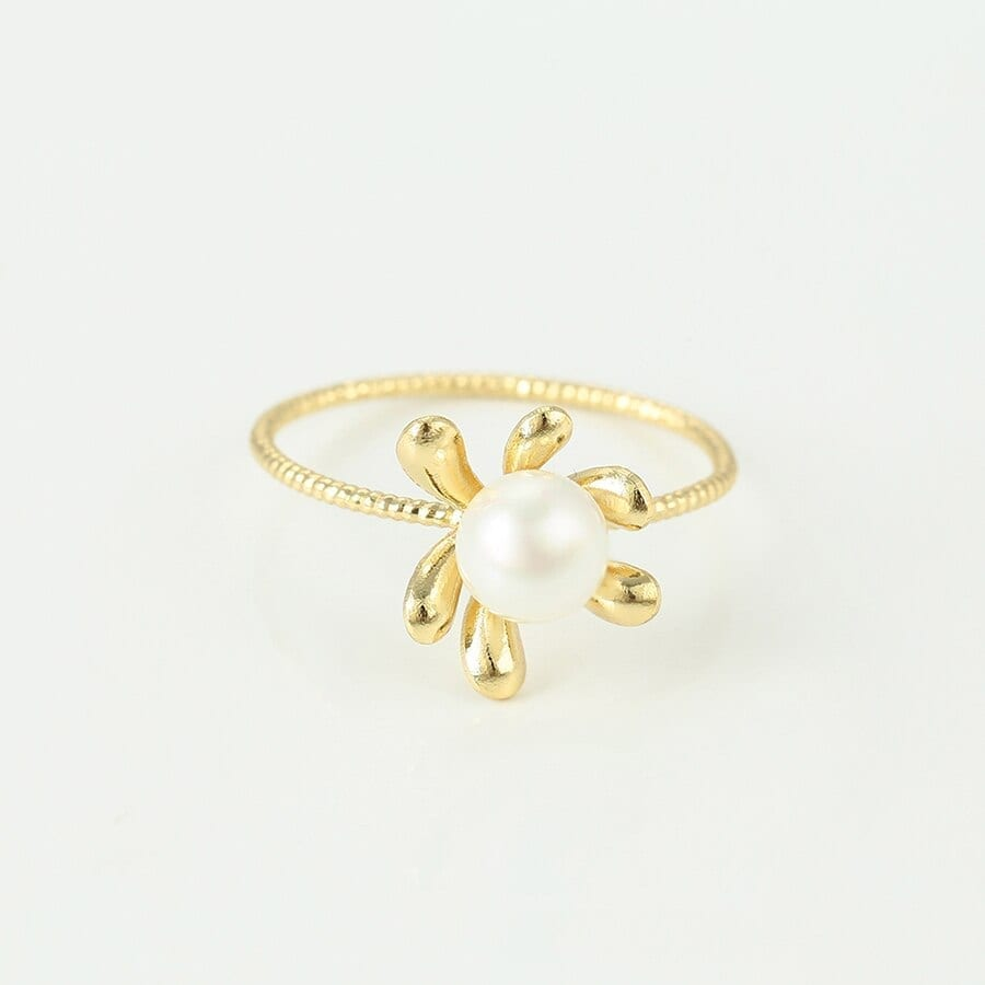 Plant Shape Rings For Women And Girls Imitation Pearl - Luxynor.com