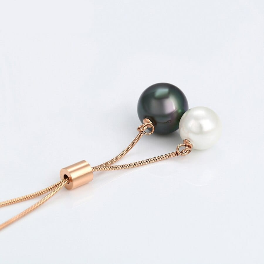 Imitation Pearl Necklaces Stainless Steel - Luxynor.com