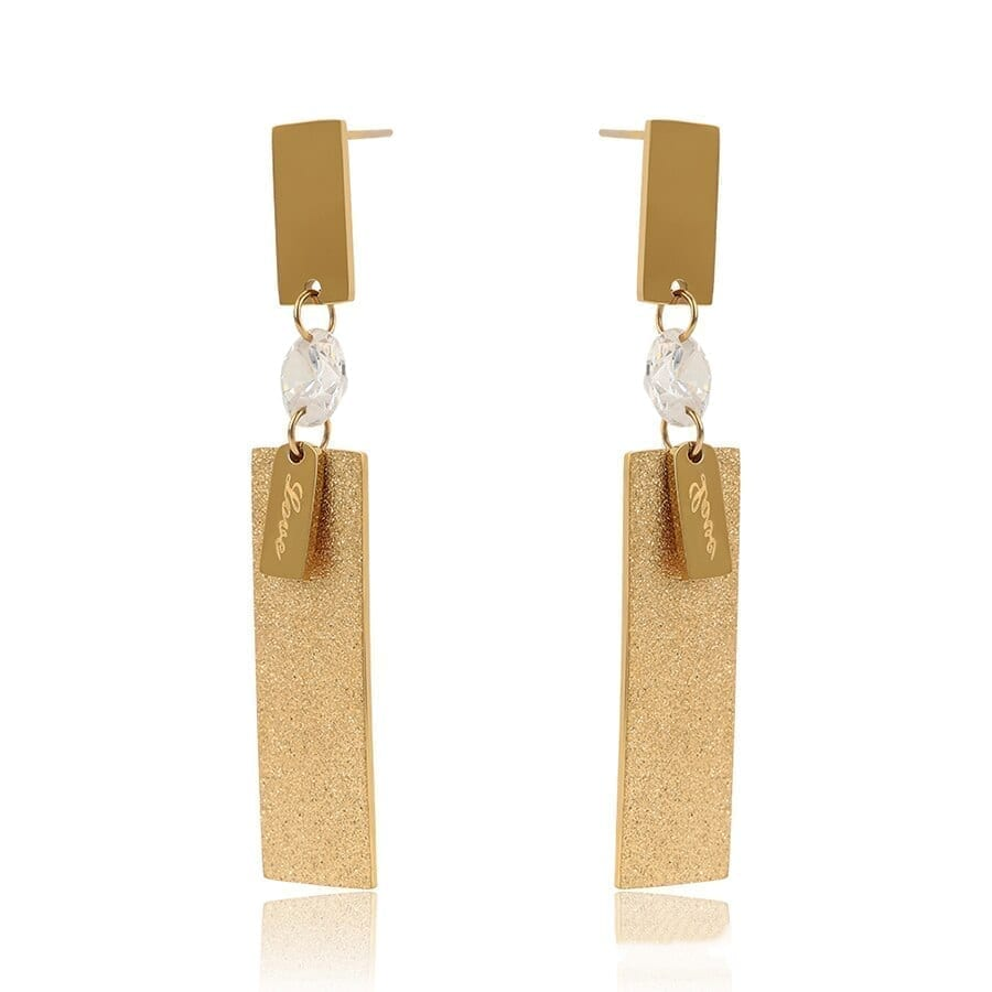 Luxynor Jewelry Drop Earrings Stainless Steel Gold Color Jewelry European Style Party