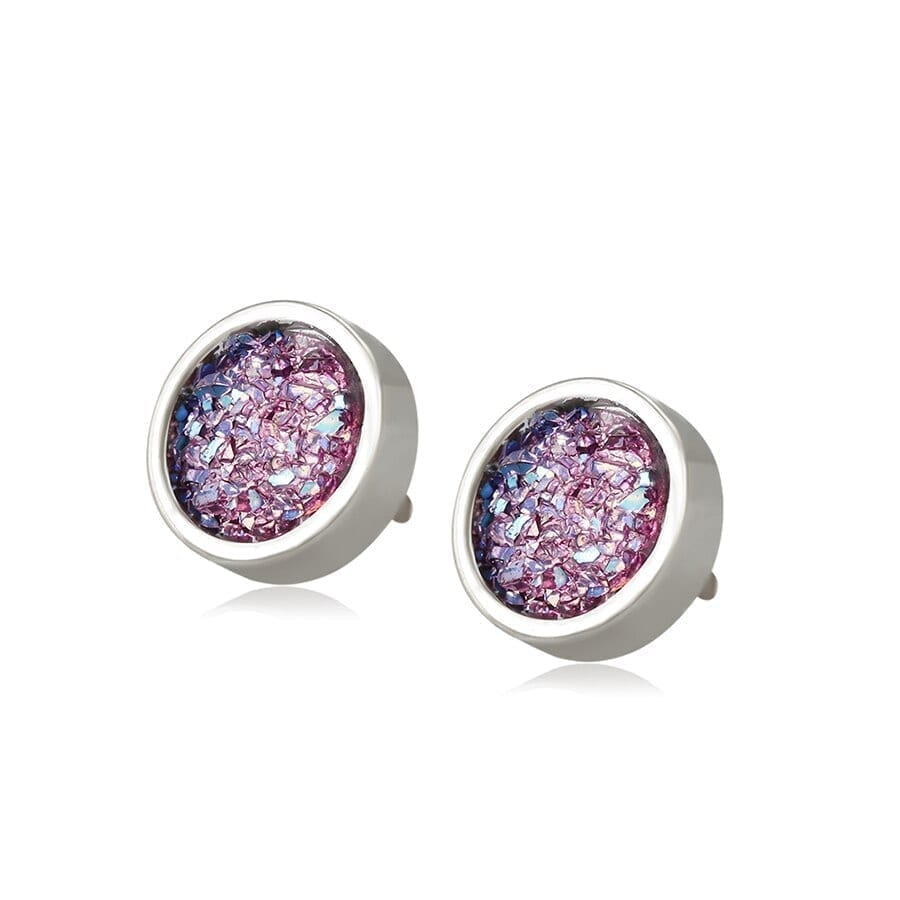Fashion Studs Earrings Stainless Steel Jewelry Colorful Party Birthday - Luxynor.com