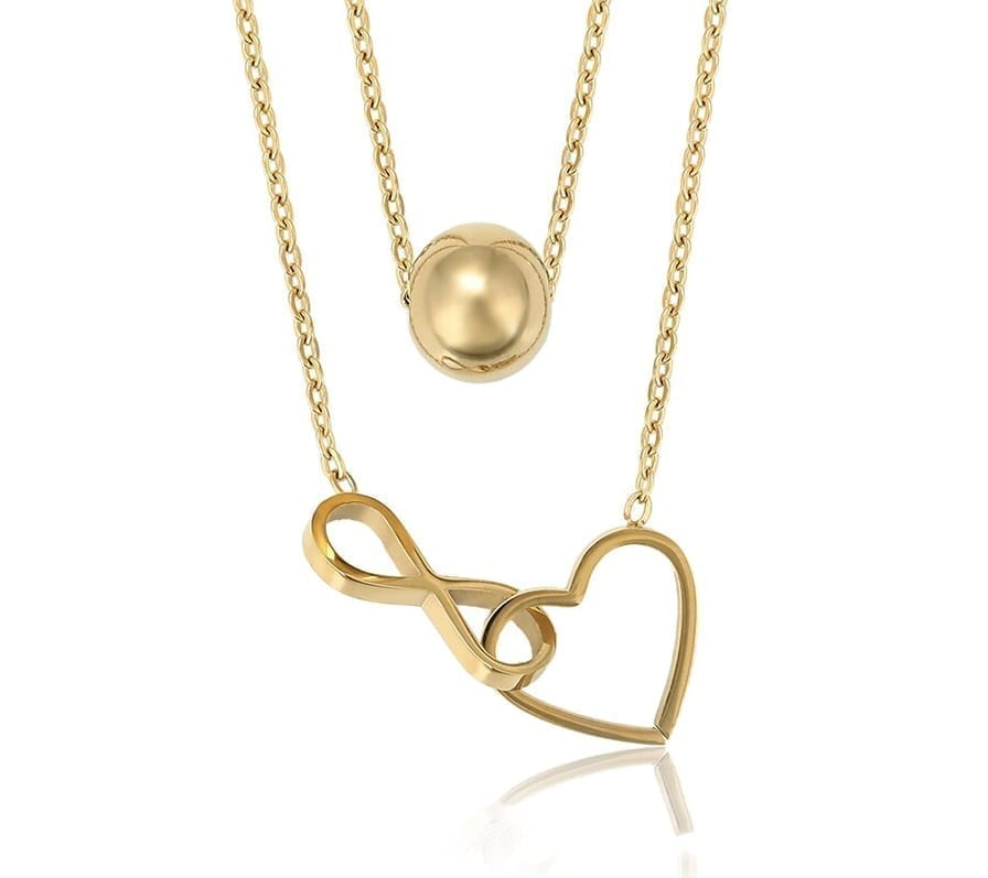 Heart Shaped Circles Necklaces Stainless Steel Jewelry Popular Party Gift - Luxynor Jewelry