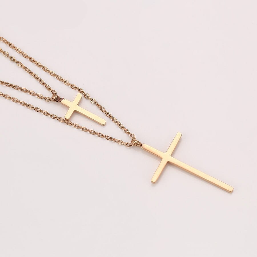 Cross Necklaces Stainless Steel Jewelry Fashion Design Party Gift Ladies - Luxynor Jewelry