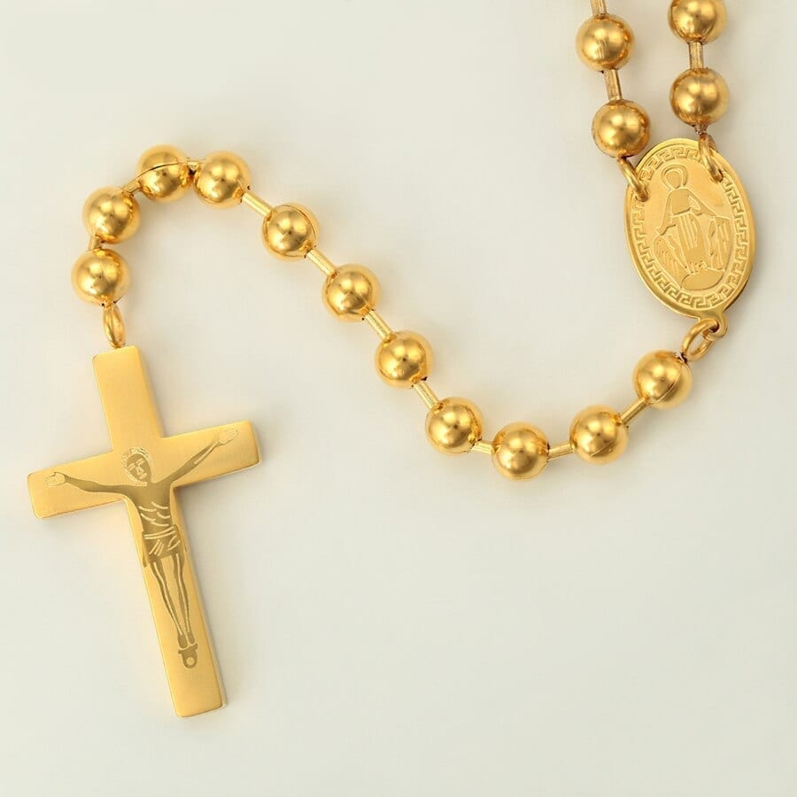 Cross Long Necklaces Stainless Steel Jewelry European Style