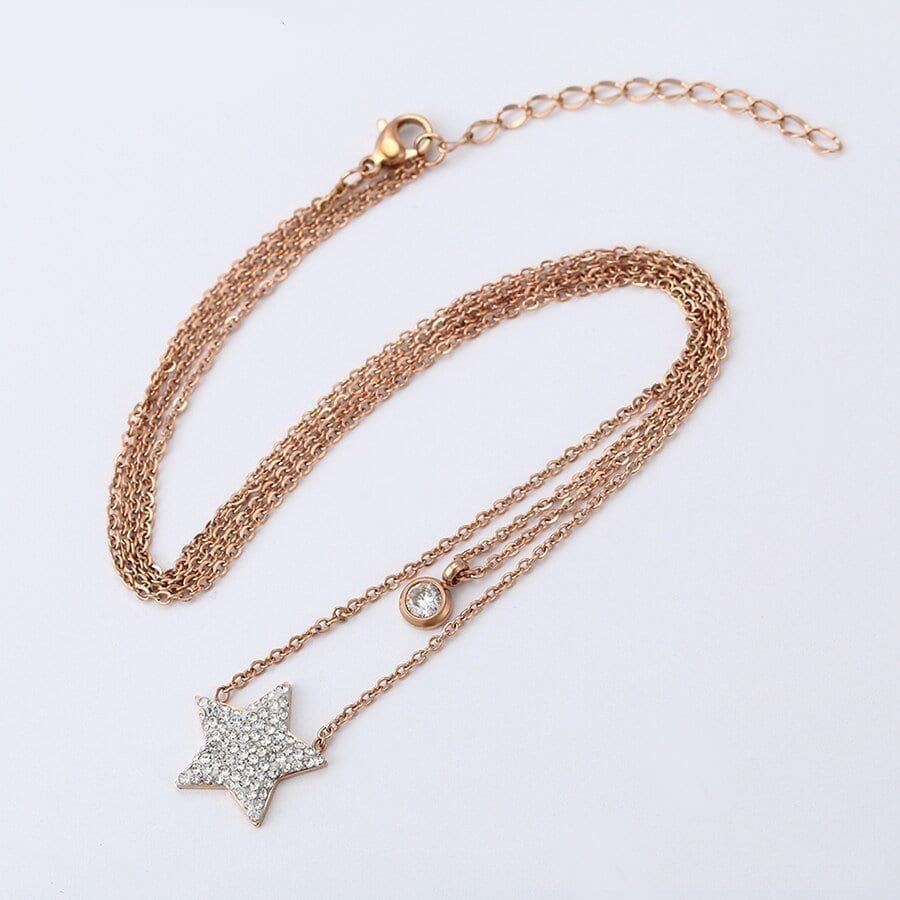 Star Shape Necklaces for Woman Stainless Steel Jewelry Special - Luxynor Jewelry