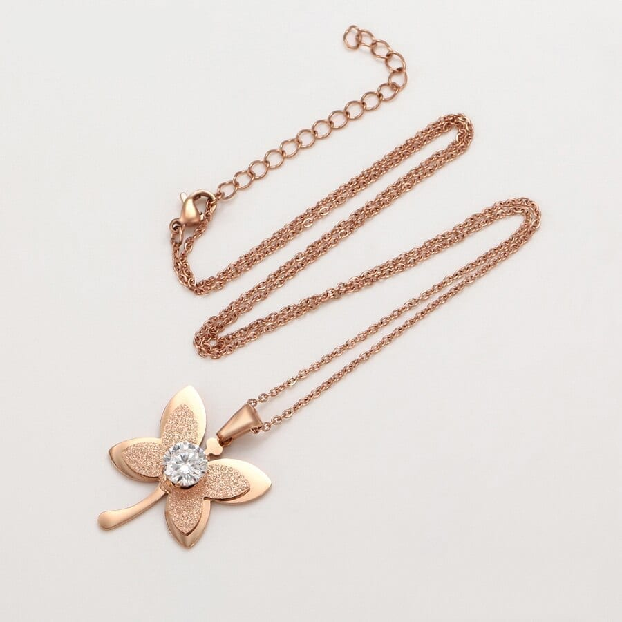 Fashion Butterfly Shaped Necklaces Woman Stainless Steel - Luxynor Jewelry