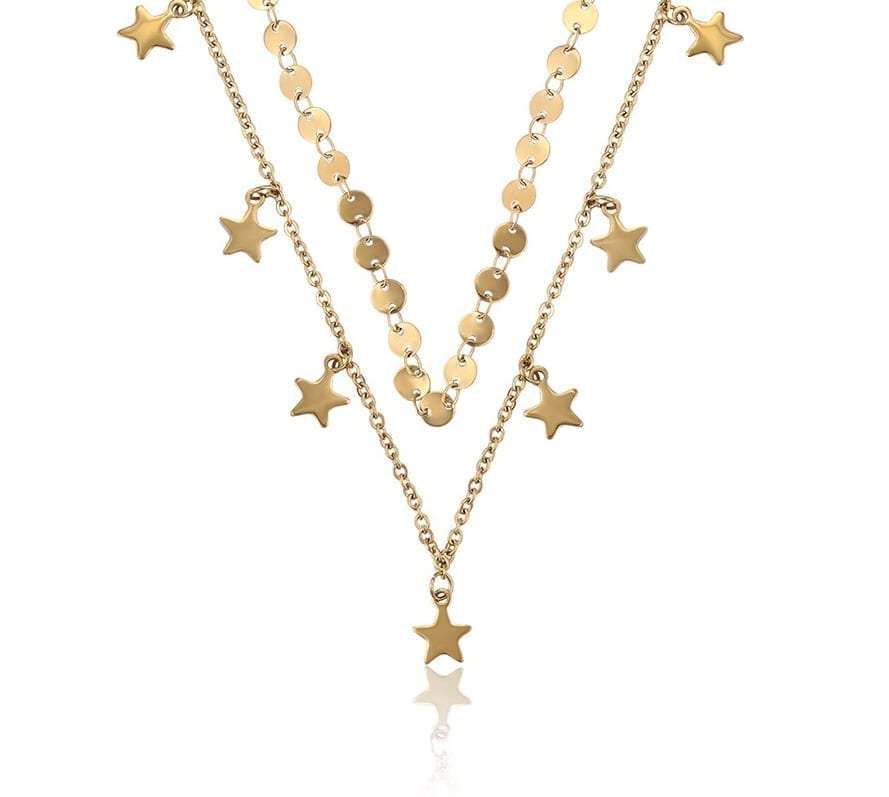 Stars and Round Necklaces Stainless Steel Jewelry Fashion Party Gift - Luxynor.com