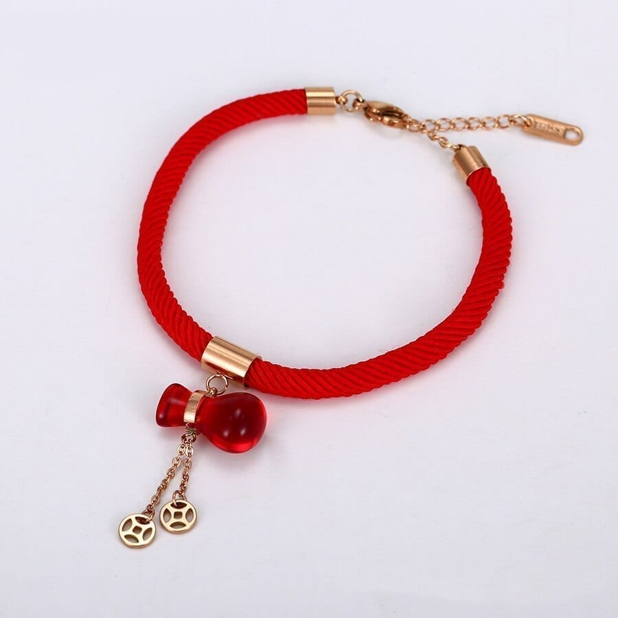 Rope Chain Style Bracelets Women Stainless Steel Jewelry Chinese style - Luxynor.com