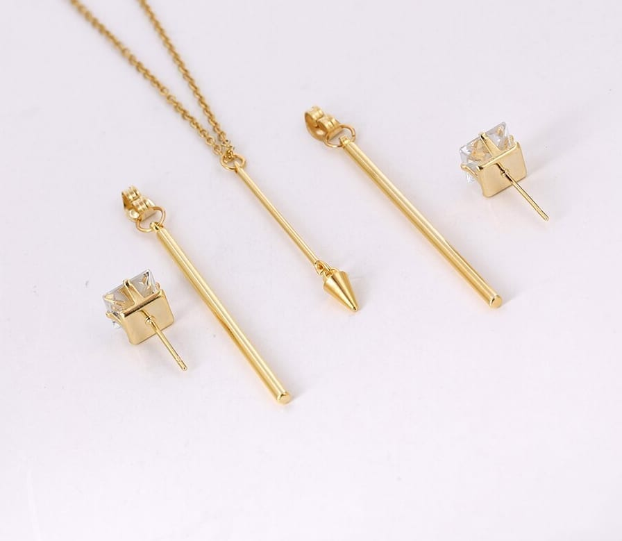 Fashion Stainless Steel Jewelry Set Popular Design Charms Styles Party - Luxynor.com