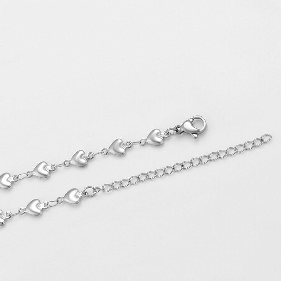 Cute Heart Shaped Stainless Steel Jewelry Set Party Engagement Fashion