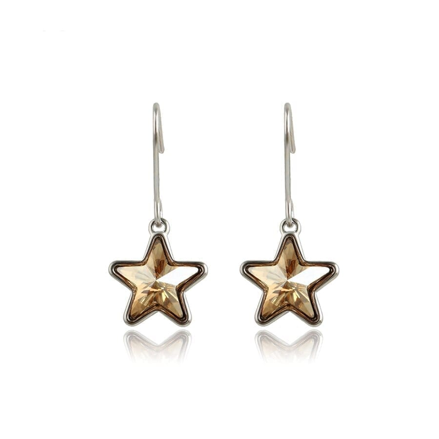 Exquisite drops Earrings Star Style Luxury Crystals from Swarovski - Luxynor.com
