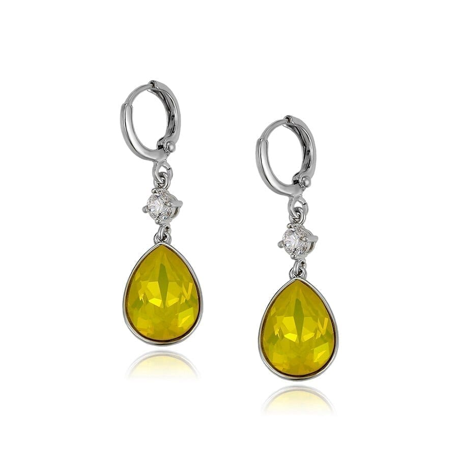 Earrings Water Drop Shaped European and American Style Crystals from Swarovski - Luxynor.com