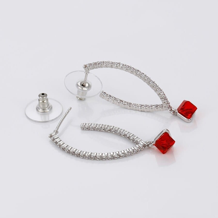Drop Earrings Classic Style Crystals from Swarovski Colorful for Women - Luxynor Jewelry