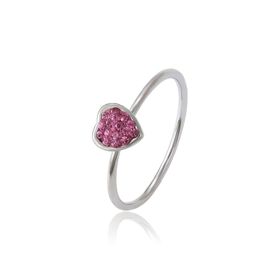 Heart Dainty Ring Wild Style Crystals from Swarovski Love Gift Unique - Luxynor Jewelry