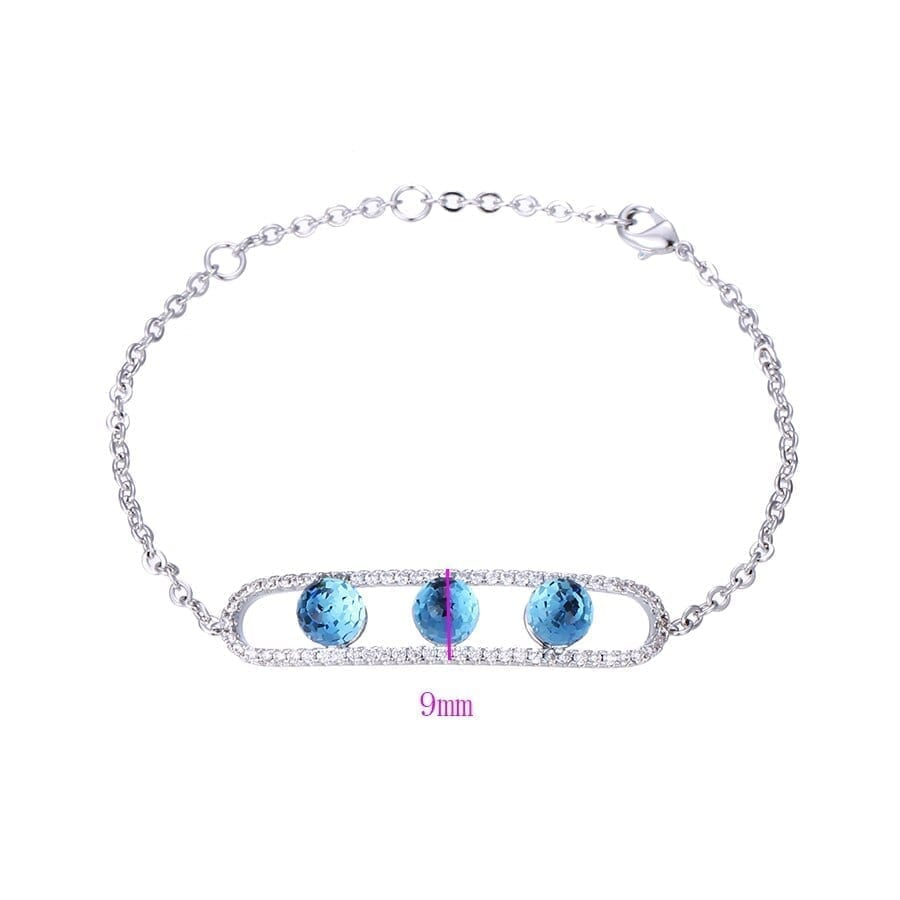 Simple Style Temperament Bracelets Cute Crystals from Swarovski Romantic Jewelry Women Thanksgiving Gifts S142.2-75161