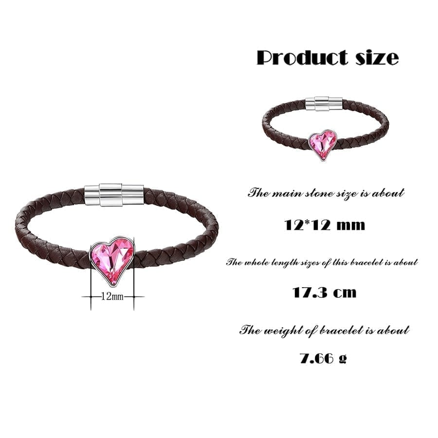 Heart Shaped Bracelets Crystals from Swarovski Romantic Jewelry Anniversary Gifts for Ladies S174.6-50001