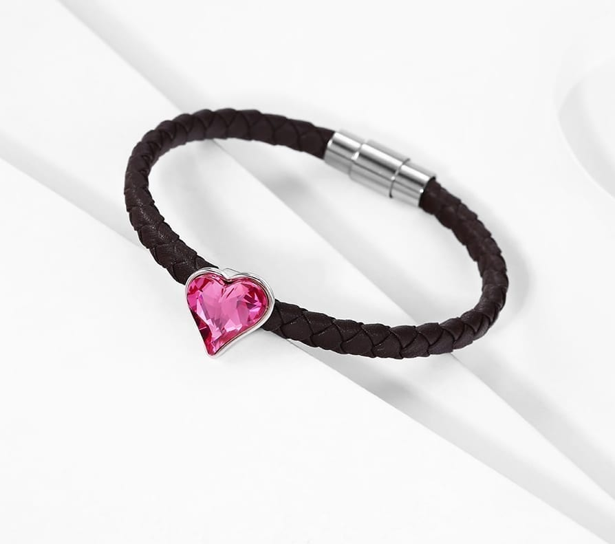 Heart Shaped Bracelets Crystals from Swarovski Romantic Jewelry Anniversary Gifts for Ladies - Luxynor Jewelry