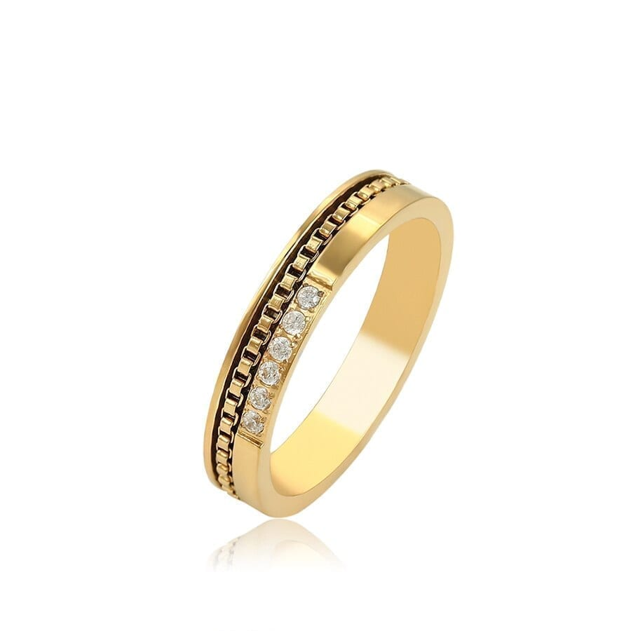 Fashion Design Rings For Women Stainless Steel Jewelry Family Party - Luxynor Jewelry