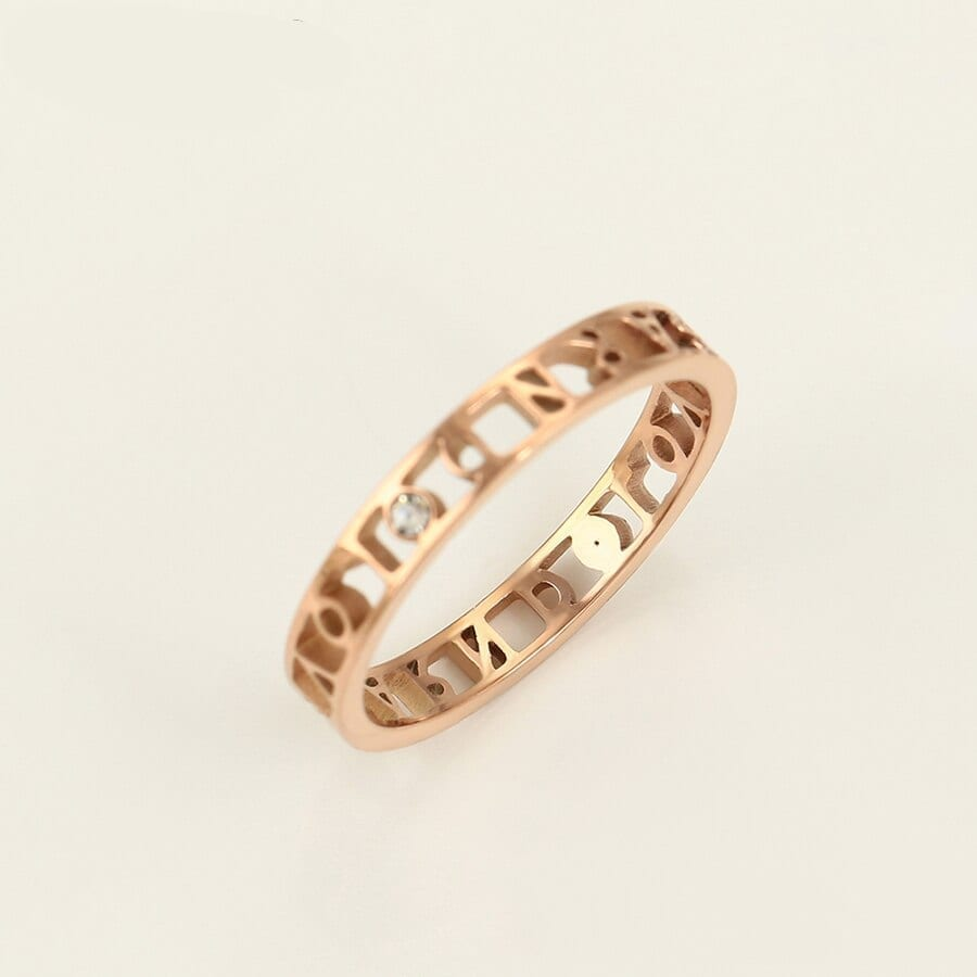 DIY Ring Stainless Steel Jewelry Fashion Design Birthday Family Party - Luxynor Jewelry