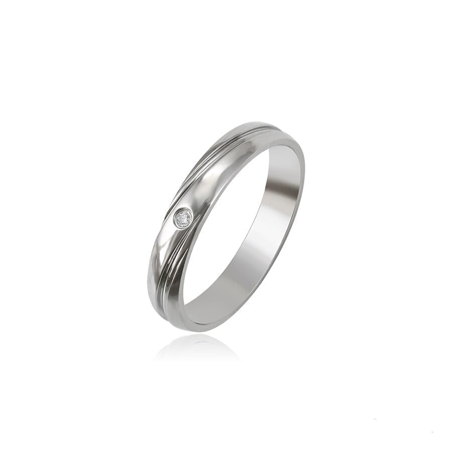 Stainless Steel Ring With Crystal Elegant Simple Best Birthday Gifts - Luxynor Jewelry