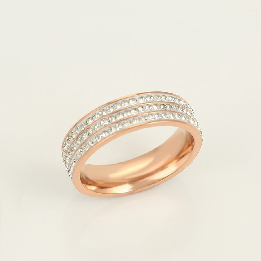Rose Gold Color Plated Stainless Steel Ring Woman Party Birthday Anniversary Gifts - Luxynor Jewelry