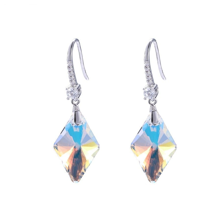 Earrings Conical Three dimensional Style Crystals from Swarovski - Luxynor Jewelry