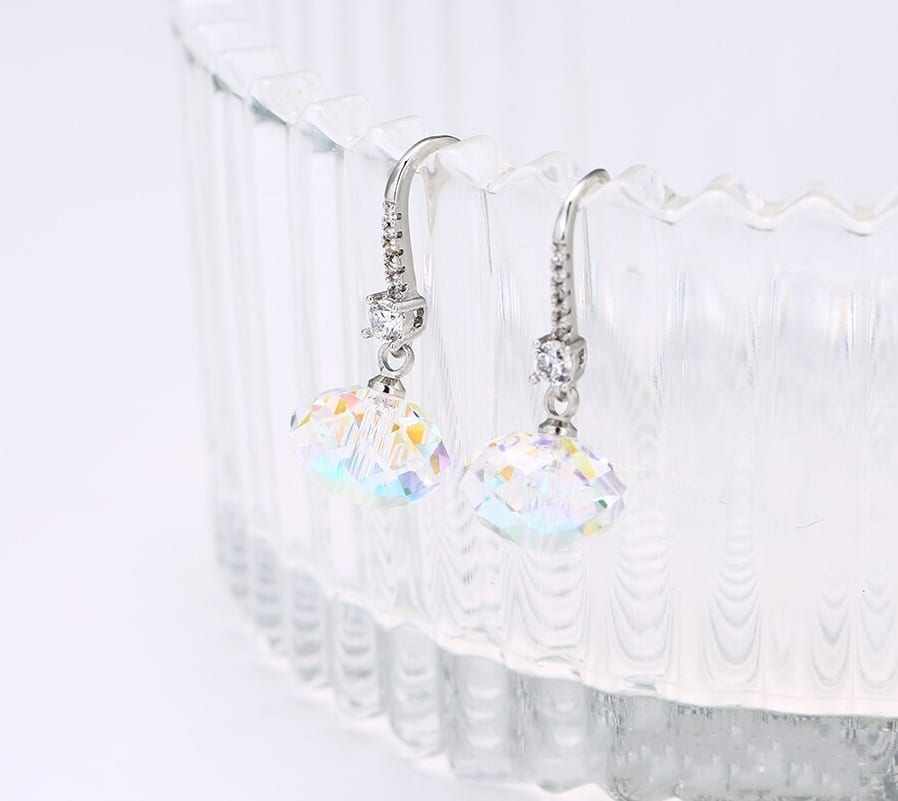 Fashion Drop Earrings Crystals from Swarovski Embellished With Sparkling - Luxynor Jewelry