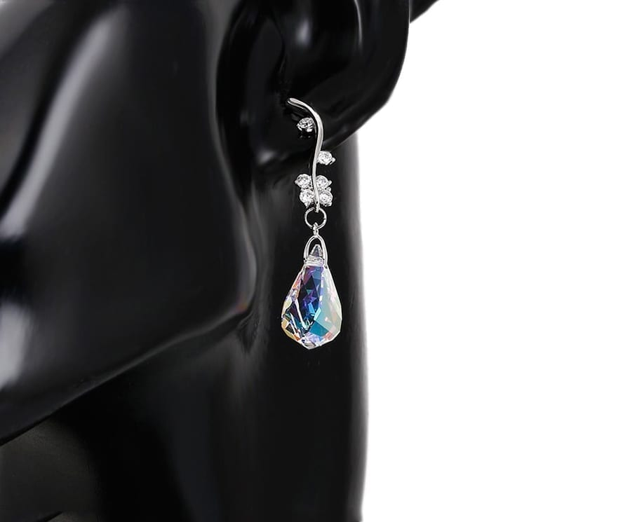 Earrings for Lady Temperament Crystals from Swarovski European Style - Luxynor Jewelry