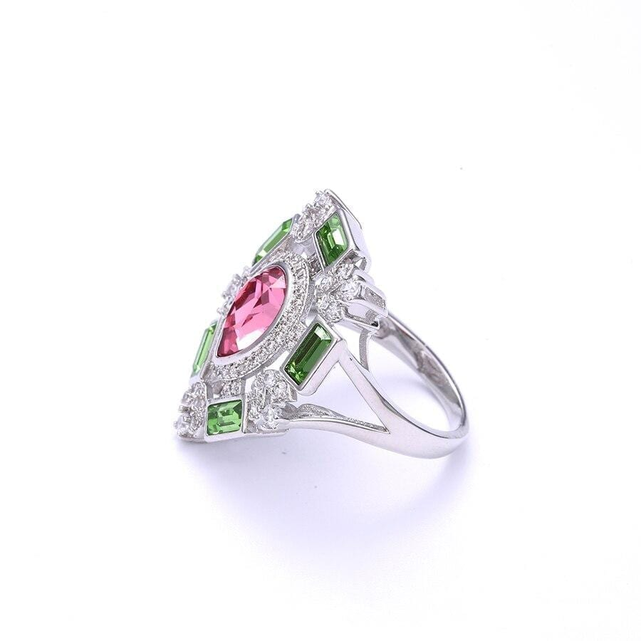 Temperament Ring Embellished with Sparkling Crystals from Swarovski - Luxynor.com
