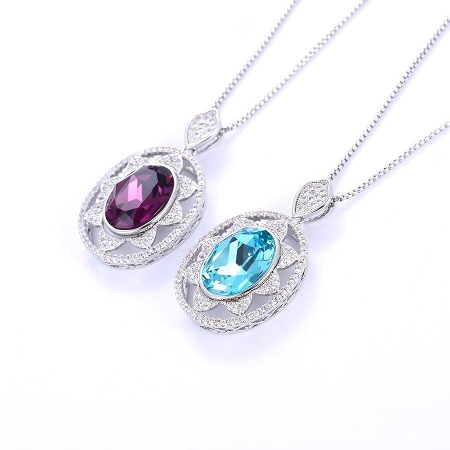 Elliptical Shape Exquisite Necklace Crystals from Swarovski - Luxynor.com