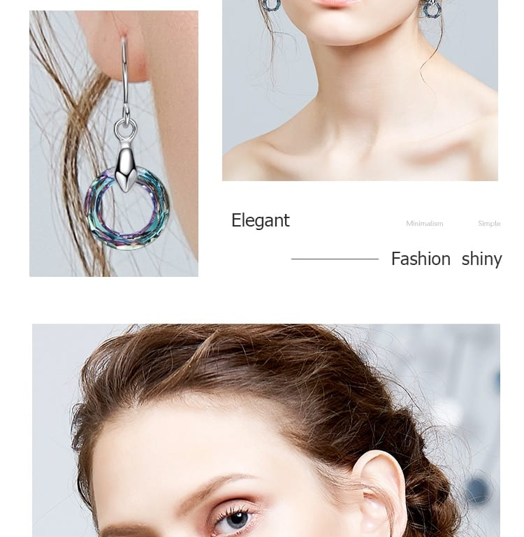 Drop Earring Embellished With Crystals from Swarovski - Luxynor.com
